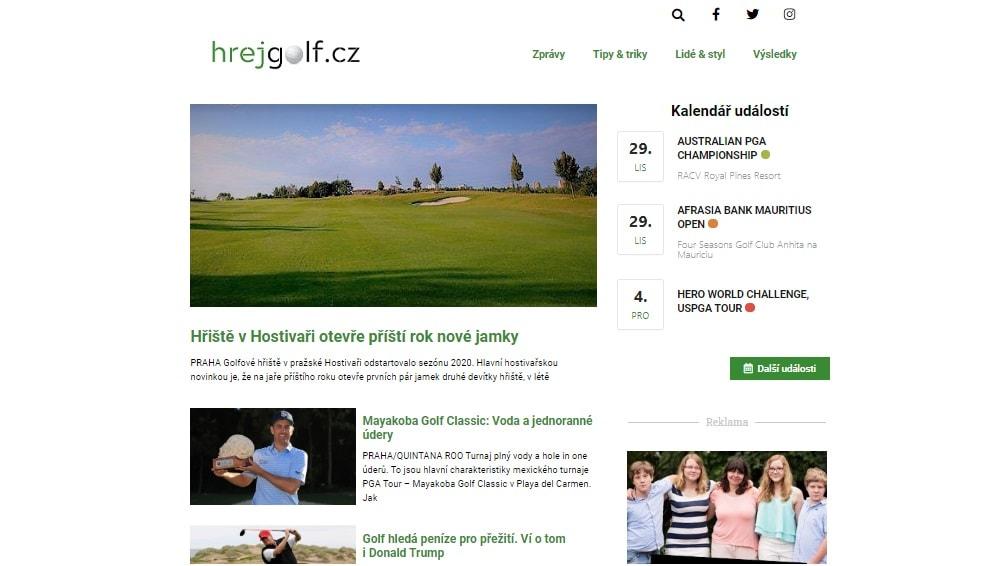 Nový golfový magazín HrejGolf.cz